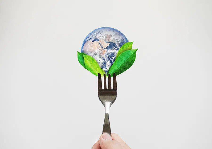 earth on fork