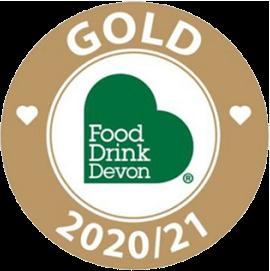 food drink devon gold logo