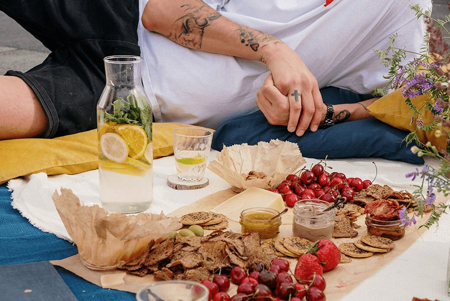 various foods on a table