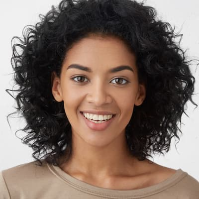woman smiling into the camera